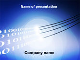 Telecommunication: Wired Internet PowerPoint Template #05844