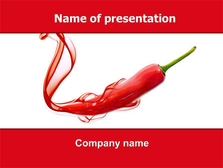 Food & Beverage: Modello PowerPoint - Peperoncino #05845