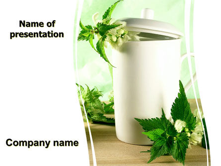 Nature & Environment: Nettle PowerPoint Template #05848
