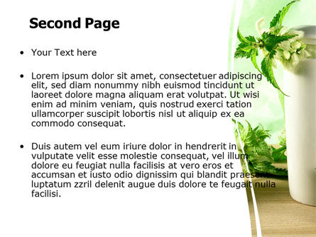Nettle PowerPoint Template, Slide 2, 05848, Nature & Environment — PoweredTemplate.com
