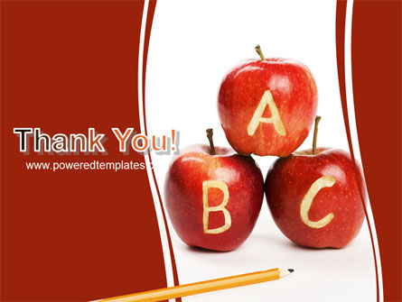 Apples ABC PowerPoint Template Slide 20