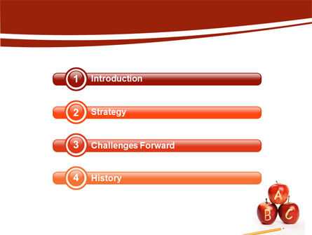 Apples ABC PowerPoint Template, Slide 3, 05849, Education & Training — PoweredTemplate.com