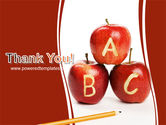 Apples ABC PowerPoint Template#20
