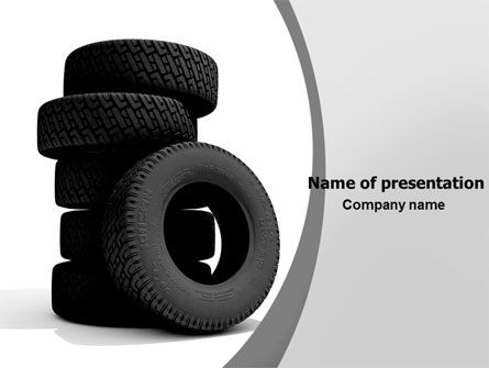 Tires PowerPoint Template, 05850, Careers/Industry — PoweredTemplate.com