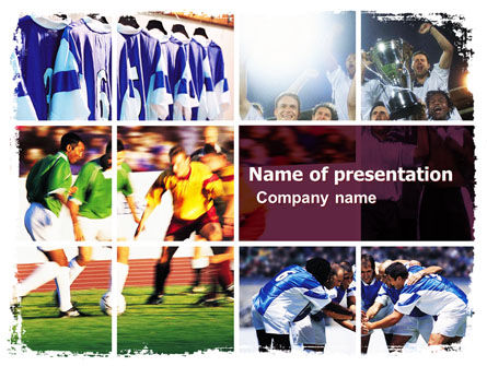 Soccer Team PowerPoint Template, 05851, Sports — PoweredTemplate.com