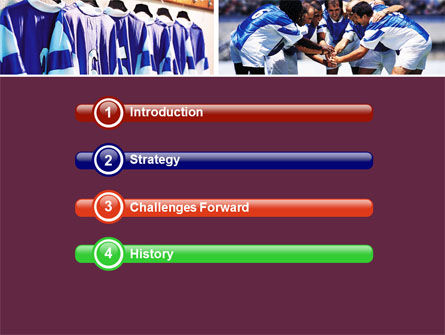 Soccer Team PowerPoint Template, Slide 3, 05851, Sports — PoweredTemplate.com