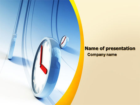 Running Clocks PowerPoint Template, 05852, Consulting — PoweredTemplate.com