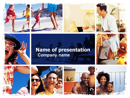 Family Vacation PowerPoint Template, 05854, Careers/Industry — PoweredTemplate.com