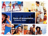 Careers/Industry: Family Vacation PowerPoint Template #05854