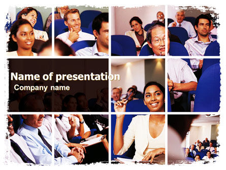 Business Seminar PowerPoint Template, 05856, Education & Training — PoweredTemplate.com