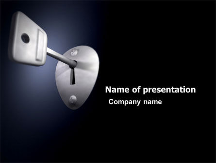 Key PowerPoint Template, 05857, Business Concepts — PoweredTemplate.com