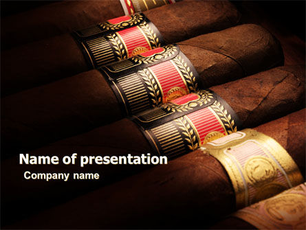 Careers/Industry: Cigars PowerPoint Template #05858
