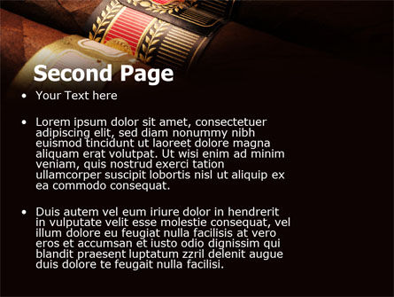 Cigars PowerPoint Template Slide 2