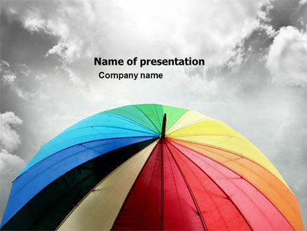 Consulting: Rainbow Umbrella PowerPoint Template #05861