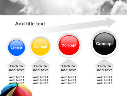 Rainbow Umbrella PowerPoint Template Slide 13