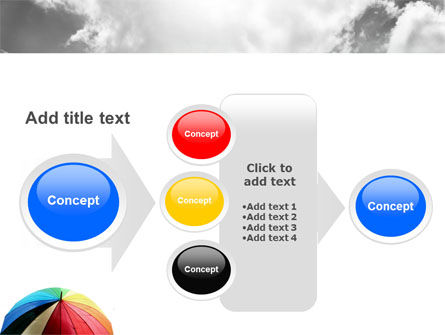 Rainbow Umbrella PowerPoint Template Slide 17
