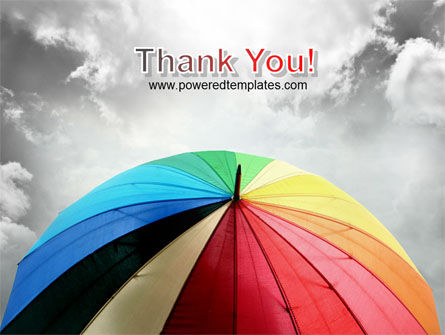 Rainbow Umbrella PowerPoint Template Slide 20