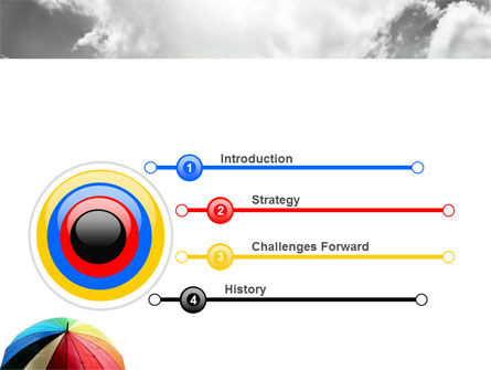 Rainbow Umbrella PowerPoint Template Slide 3