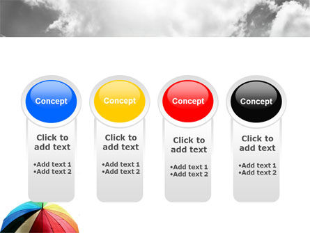 Rainbow Umbrella PowerPoint Template Slide 5