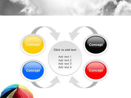 Rainbow Umbrella PowerPoint Template Slide 6