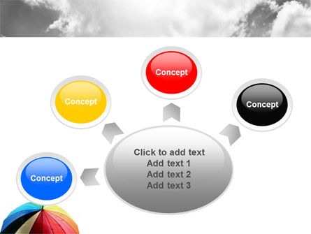 Rainbow Umbrella PowerPoint Template Slide 7