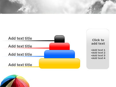 Rainbow Umbrella PowerPoint Template Slide 8