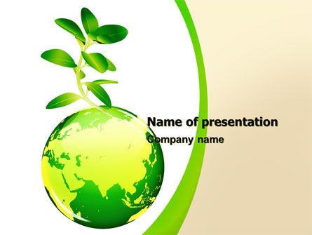 Green Earth PowerPoint Template, 05862, Nature & Environment — PoweredTemplate.com