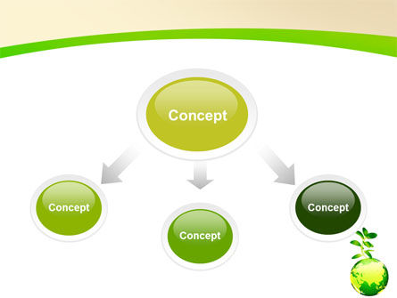 Green Earth PowerPoint Template, Slide 4, 05862, Nature & Environment — PoweredTemplate.com
