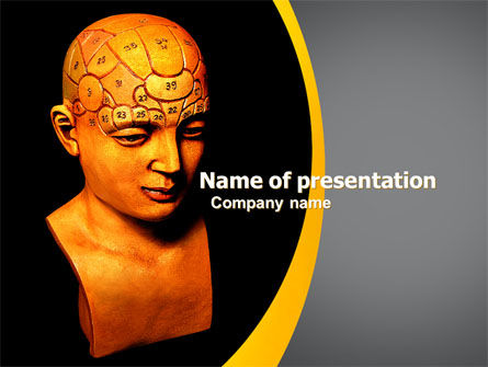 Psychology Model PowerPoint Template, 05863, Medical — PoweredTemplate.com
