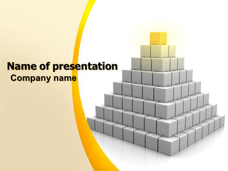 Pyramid PowerPoint Template, 05865, Business Concepts — PoweredTemplate.com