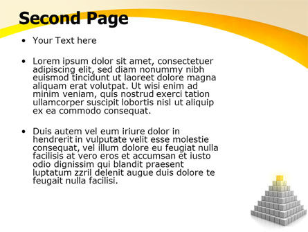 Pyramid PowerPoint Template, Slide 2, 05865, Business Concepts — PoweredTemplate.com