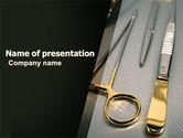 Medical: Modelo do PowerPoint - instrumentos cirúrgicos em cores escuras #05867