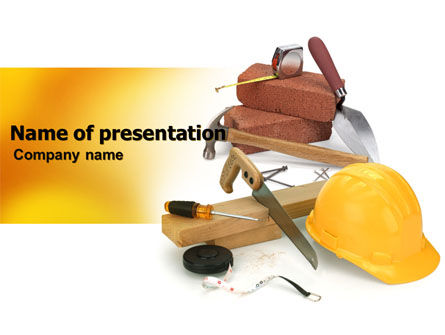 Utilities/Industrial: Building Tools PowerPoint Template #05869