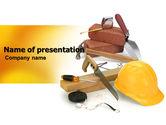 Utilities/Industrial: Building Tools PowerPoint Template #05869