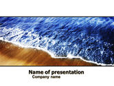 Nature & Environment: Sea Sand PowerPoint Template #05870