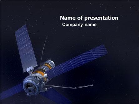 Space Satellite PowerPoint Template, 05872, Technology and Science — PoweredTemplate.com