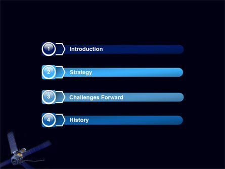 Space Satellite PowerPoint Template, Slide 3, 05872, Technology and Science — PoweredTemplate.com