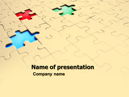 Missing Puzzles PowerPoint Template, 05873, Business Concepts — PoweredTemplate.com