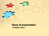 Business Concepts: Missing Puzzles PowerPoint Template #05873