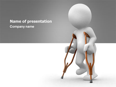 Medical: Cripple Person PowerPoint Template #05876