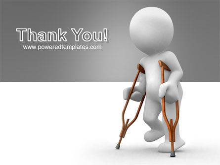 Cripple Person PowerPoint Template Slide 20