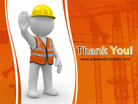 Symbolic Figure Of A Builder PowerPoint Template Slide 20