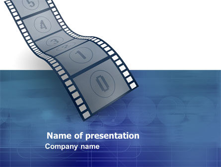 Careers/Industry: Film Strip In Blue Color PowerPoint Template #05878