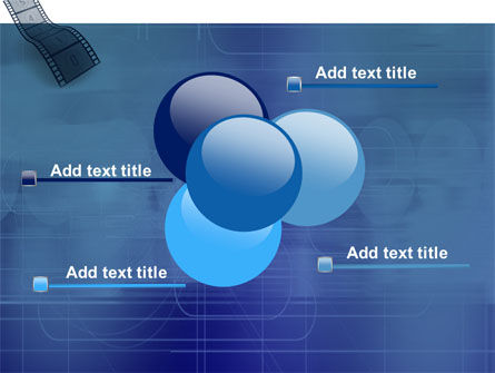 Film Strip In Blue Color PowerPoint Template Slide 10