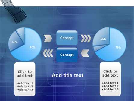 Film Strip In Blue Color PowerPoint Template Slide 11