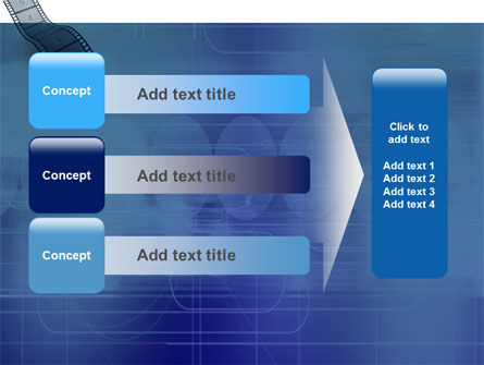 Film Strip In Blue Color PowerPoint Template Slide 12