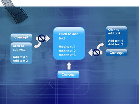 Film Strip In Blue Color PowerPoint Template Slide 13