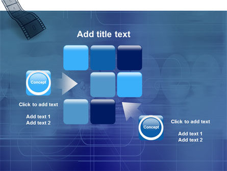 Film Strip In Blue Color PowerPoint Template Slide 16