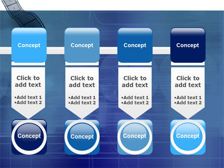 Film Strip In Blue Color PowerPoint Template Slide 18