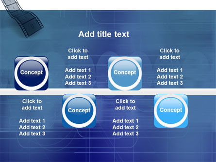 Film Strip In Blue Color PowerPoint Template Slide 19